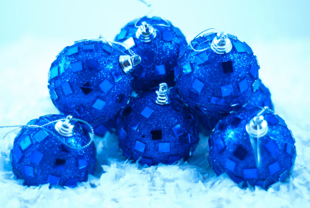 nice simple blue ornaments with a blue hue.