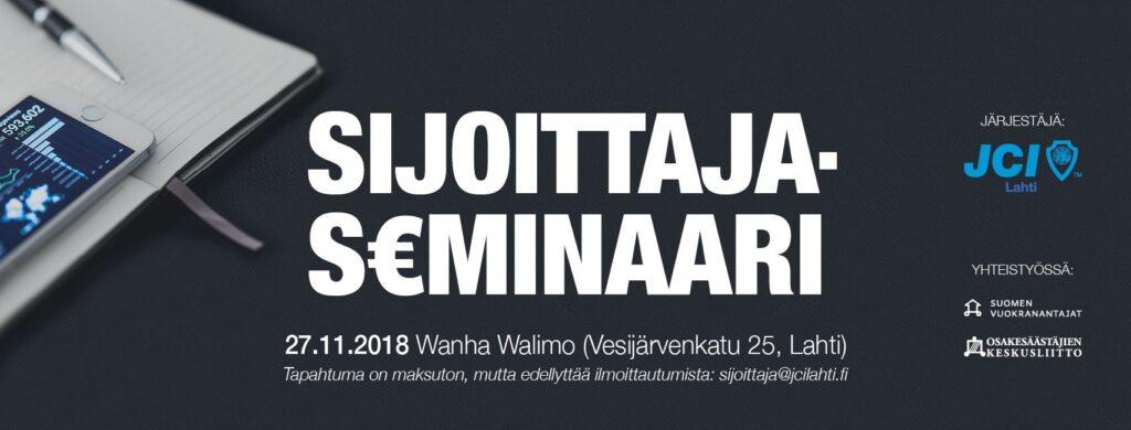 Sijoittajaseminaari 2018 @ Wanha Walimo | Lahti | Suomi